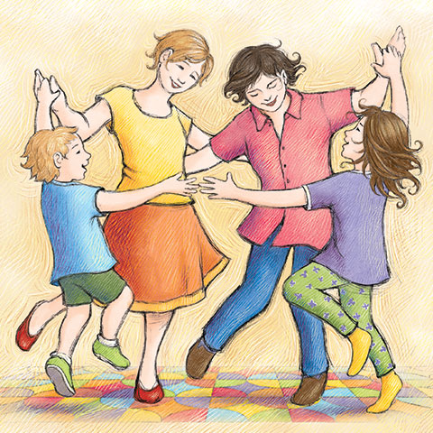 dancing - illustration from Mom Marries Mum