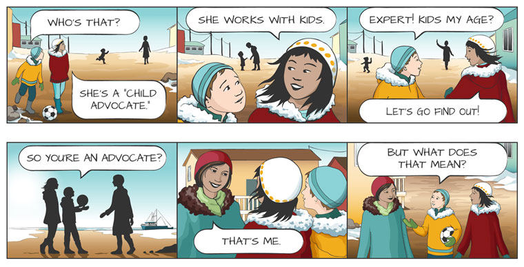 comic strip for Representative for Children and Youth